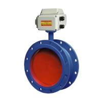 China Flanged Ventilation DN1500 Electric Butterfly Valve on sale