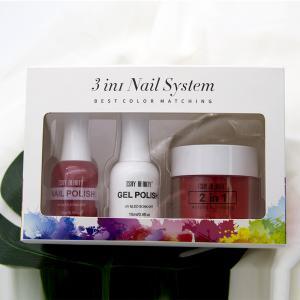 Buy cheap Custom your logo label 3 in 1 nail set dip powder gel polish Color Matching nail polish dipping powder acrylic product