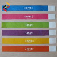 Buy cheap One time used RFID Paper Wristband Passive Disposable Paper wristband for event product