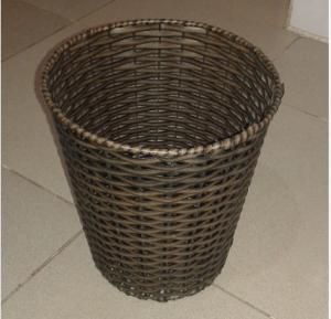 PP Rattan Trash Basket