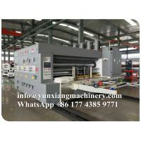 China YUNXIANG Group Lead Edge Flexo Printer Slotter Die Cutter Machine on sale