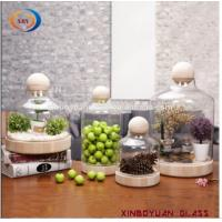 Buy cheap Creative black wood bottom glass bottle/Modern simple glass cover product