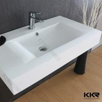 Buy cheap Glossy countertop Solid Surface Basin from wholesalers