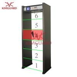 Buy cheap Airport Security Door Frame Metal Detector 6 Zone Metal Scanning Alarm Machine from wholesalers