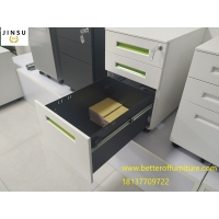 Buy cheap Movable 3-Drawer Vertical File Cabinet, Locking, Letter and Legal file white color H600XW390XD520mm product
