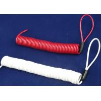 Buy cheap Double Loops White/  Red Coil Spiral Spring Steel Cable For Tool Use product