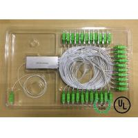Buy cheap 1X64 Single Mode Fiber Coupling 0.9mm package D Input and output Fiber Length 1m product