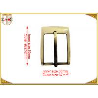 Buy cheap Gold Custom Metal Pin Belt Buckle / Mens Fashion Belt Buckles product