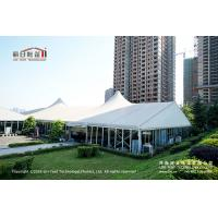Buy cheap 500 People Outdoor High Peak Tents With Hard Glass Wall for Auto Show product
