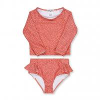 Buy cheap Professional  Long Sleeve Baby Lycra Swimsuit Rear Zipper And Hook Clasp product