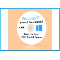 Buy cheap Win 10 Pro 32/64BIT DVD Microsoft Windows Softwares Customizable FQC COA X20 from wholesalers