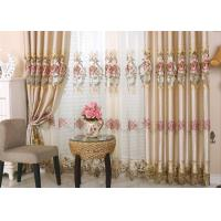 Buy cheap Beautiful Polyester Embroidered Fabrics Contemporary Curtain Fabric product