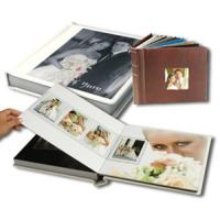 Buy cheap Brown Leather Cover / Round Spine 6x8 Flush Mount Albums For Photographers product