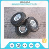Quality Staright Valve Pneumatic Rubber Wheels , Pneumatic Caster Wheels 3.50-6 Steel for sale