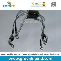 Buy cheap Transparent Black Color 0.5MM Stee Core Coated 2'' TUP Elastic Coiled Tether with Lobster Clip 2pcs product