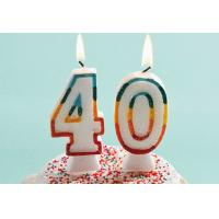 Buy cheap Glitter Number Birthday Candles , 40th Anniversary Cake Candles Food Grade from wholesalers