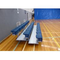 Aluminum Movable Stadium Seating , Metal Bleacher Seats With Rubber Foot Pads