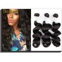 Black Remy Peruvian Virgin Human Hair Extensions 18 22 Loose Wavy Natural Wave