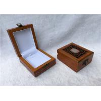 Buy cheap Metal Locked Rectangular Gift Box For Watches Collection , Solid Red Wooden product
