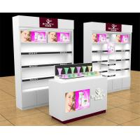 Exhibition Stand Cosmetics : Retail makeup display stand cosmetic counter for