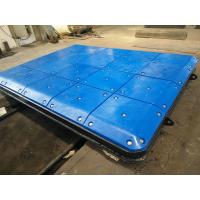 Marine Fendering System Impingement Plate With PE Face Pads , Marine Panels