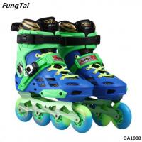 Buy cheap Factory Wholesale Roller Blade Skating Shoes Inline Skate Shoes 4 Wheels Roller Patins Shoes Blue Green Color (DA1008) product