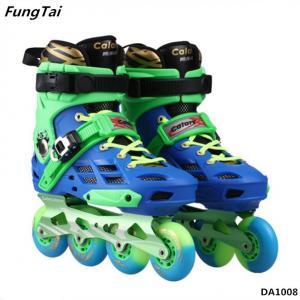 Buy cheap Street Slalon Inline Skate Shoes 4 Wheels Roller Patins Shoe Men Women Blade Skating Shoes Green Yellow Color (DA1007) product