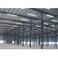 Buy cheap Hot Dipped Galvanized Metal Frame Warehouse , Pre Manufactured Steel Buildings product