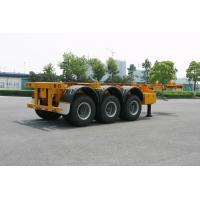 Buy cheap ISO Skeletal or Flatbed type Tank Container Trailer Chassis 40ft / Semi-Trailer product