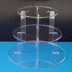 Quality Beautiful Shape Acrylic Cake Stand Acrylic Displays for sale