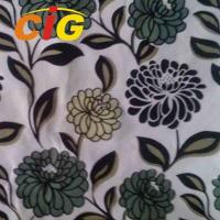 Buy cheap 100% Polyester 145cm width 220gsm flock sofa fabric for sofa seat cover from wholesalers