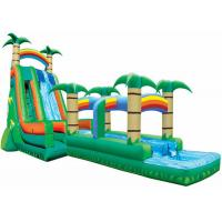 China Palm Tree Bouncy Castle Water Slide Practical Workmanship Long Durability on sale