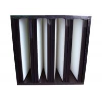 Buy cheap Secondary V Cell Industrial Air Filters Fiberglass Air Filter With ABS Plastic Frame product