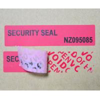 Buy cheap Waterproof Tamper Evident Products ISO9001 Certification For Box Carton product