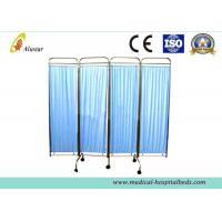 Buy cheap Mobile Stainless Steel Medical Privacy Screen, Folding Hospital Bedside Ward Screen (ALS-WS02) product