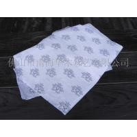 China White Custom Wrapping Paper With Flower Pattern Round Square Rectangle Shape on sale