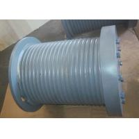 Buy cheap Marine Hydraulic Winch Drum With Rope Groove、Rope Inlet、Rope Hold Down, Gray Steel Drum. product