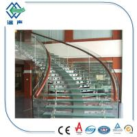 Buy cheap Safety High Hardness Clear Flat Laminated Floor Stair Tempered Glass panels product