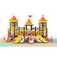 Buy cheap Yellow And Orange Anti - Crack Plastic Backyard Playsets For 10 Kids Capacity product