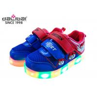 Non Slip Glowing Luminous Trainers Kids Lighted Shoes , Custom LED Shoes With Lights For Kids