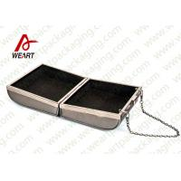 Buy cheap Grey Cardboard Gift Contanier Customized Paper Box Flat Tape Rope product