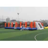 China Green Soap Inflatable Football Pitch Hire Kids N Adults Outdoor Football Training Sport on sale