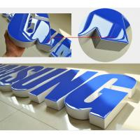 Buy cheap Colors Return Resin Face Lit Channel Letters Rimless Zinc Coated Steel UL Listed LED Signage Illuminated product