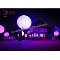 customized logo print colorful inflatable led light ball for event decoration battery inside light balloon