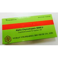 China Promote Blood Clots Alpha Chymotrypsin Injection 5000 I.U , Lyophilization Vials Injectable Drugs wholesale