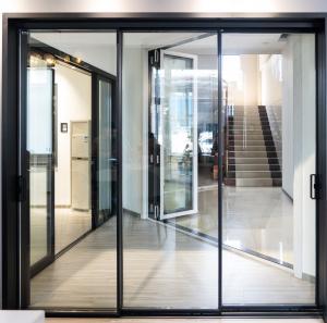 Buy cheap Minimalism Three Track Aluminum Sliding Doors With Electronic Lock product
