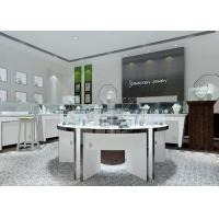 Buy cheap Modern White Color Round Circle Jewellery Display Counter / Retail Display Cases product