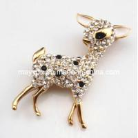 Buy cheap Fashion Jewelry-Deer Shaped Crystal Brooch product