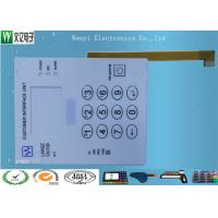 Quality Rigid PCB And FPC Circuit Membrane Switch With V150 Fine Texture Overlay for sale