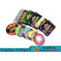 Buy cheap 760 Pcs ABS Plastic Poker Card Sets , Casino Dedicated Custom Poker Set product